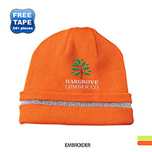 CornerStone® Enhanced Visibility Beanie with Reflective Stripe