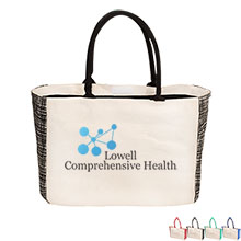 Noble Canvas Tote with Gusset Accents - Free Set Up Charges!