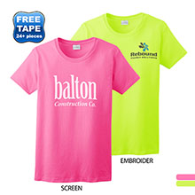Gildan® Ultra Cotton™ 50/50  Ladies' Tee, Safety Colors