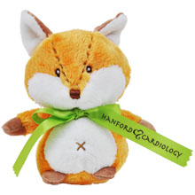 Baby Rattle Plush Fox, 6""