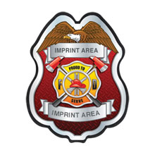 "Firefighter Plastic Badge ""Proud to Serve"""