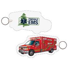 Ambulance EMS Full Color Key Tag