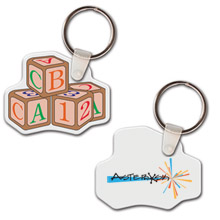 ABC Blocks Soft Vinyl Key Tag