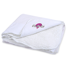 Cambridge Classic Full Size Sherpa Blanket, Embroidered