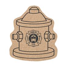 """Fire Hydrant Cork Coaster, 5-1/4"""""""