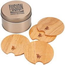 Bullware® Wood Coaster Set