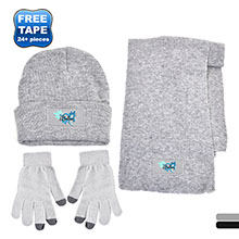 Acrylic Hat, Scarf & Touch Screen Gloves Gift Set