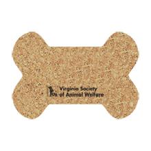 """Dog Bone Cork Mat, 19"""" x 13"""""""