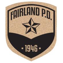 "Badge Shield Cork Coaster, 5-1/4"""