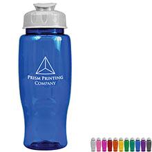 Transparent Grip Poly-Pure Sport Bottle, 27oz. - Flip Top Lid - Free Set Up Charges!