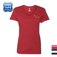 Hanes Nano-T® Ringspun Cotton Ladies' V Neck Tee
