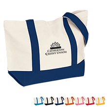 Medium 12oz. Cotton Snap Tote - Free Set Up Charges!