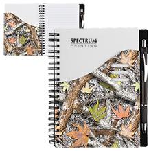"""Camo Color Wave Notebook & Pen Set, 7"""" x 5-1/2"""""""