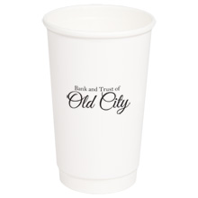 Double Wall Insulated Paper Cup, 16oz.