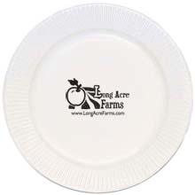 "Economy White Paper Plate, 7"""