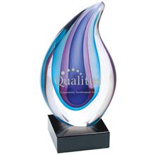 """Aurora Art Glass Award, 7-1/2"""""""
