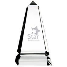 "Benton Obelisk Crystal Award, 5"""