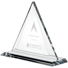 Crystal Triangle Award, 7-1/4""