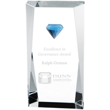 Diamond Tower Crystal Award, Medium, 6-3/4""