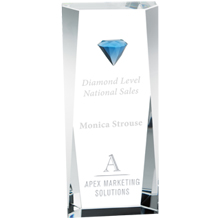 Diamond Tower Crystal Award, 8-1/4""