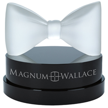 Black Tie Crystal Award with Glass Base, 4-1/2""