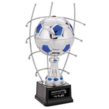 "Goal Master Steel Award Trophy, Medium, 13"""