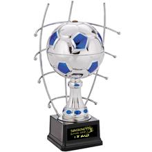"""Goal Master Steel Award Trophy, Large, 15"""""""