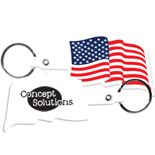 American Flag Flexible Key Tag
