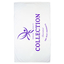 Express White Medium Weight  Beach Towel, 14 lbs.