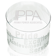 Motivational Slanted Crystal Paperweight