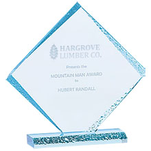 Diamond Ice Acrylic Award, Small, 8-1/2""