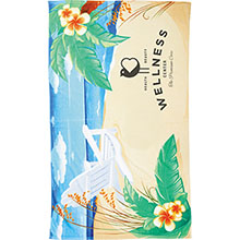 Beach Chair Scene Medium Weight Beach Towel, 14 lbs.