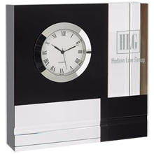 Color Block Crystal Desk Clock