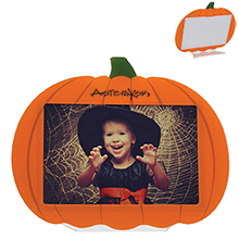 "Acrylic Pumpkin Photo Frame, 6"" x 4"""