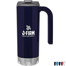 Atlas Double-Wall Mug with Handle, 16.9oz. - Free Set Up Charges!
