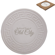 Greek Key Round Absorbent Stone Coaster