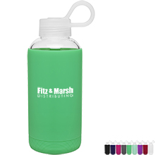 h2go Karma Glass Bottle with Silicone Sleeve, 16oz. - Free Set Up Charges!