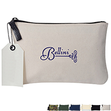 Avery Cotton Zippered Travel Pouch