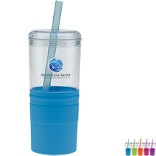 Carousel Water Bottle w/ Grip, Full Color Imprint, 21oz.