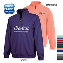 Charles River® Crosswind Quarter Zip Unisex Sweatshirt