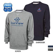 Charles River® Zippered Pockets Unisex Crew Sweatshirt