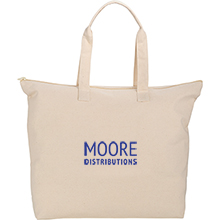 Basic 10oz. Cotton Zippered Tote
