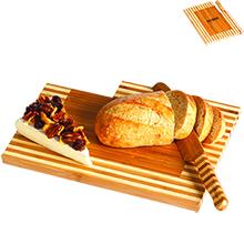 Baguette Bamboo Bread Board Set