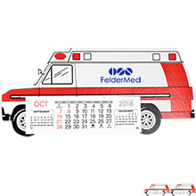 Ambulance Monthly Desk Calendar