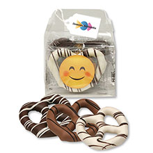 Emojoy Chocolate Dipped Pretzels Gable Top Gift Box