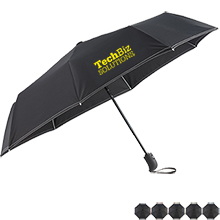 "Auto Open Close Fiberglass Folding Umbrella, 42"" Arc"