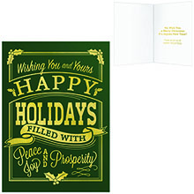 Happy Holidays Vintage Greeting Card