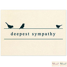 Deepest Sympathy Birds Note Card