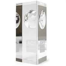 """Atlas Pillar Crystal Award, Medium, 4"""""""