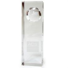 """Atlas Pillar Crystal Award, Large, 5"""""""